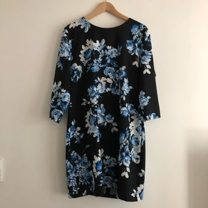 NWOT ASOS floral back cutout long sleeves Dress